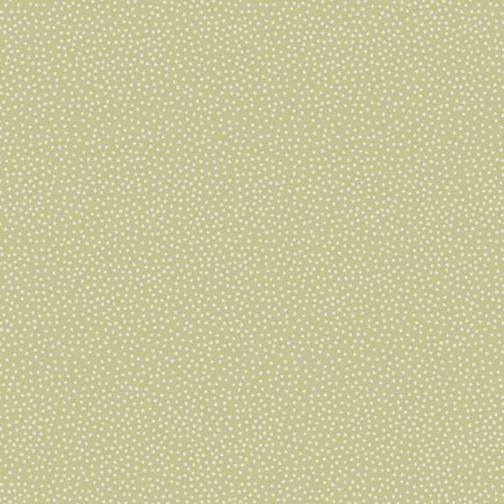 Basic Dots - Cream dot on Sage - DV3283 - 1/2 Metre Length