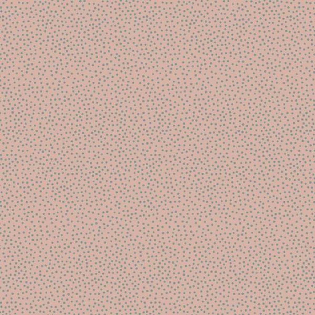 Heartstring Dots - Blue dot on Blush Pink - DV3284 - 1/2 Metre Length