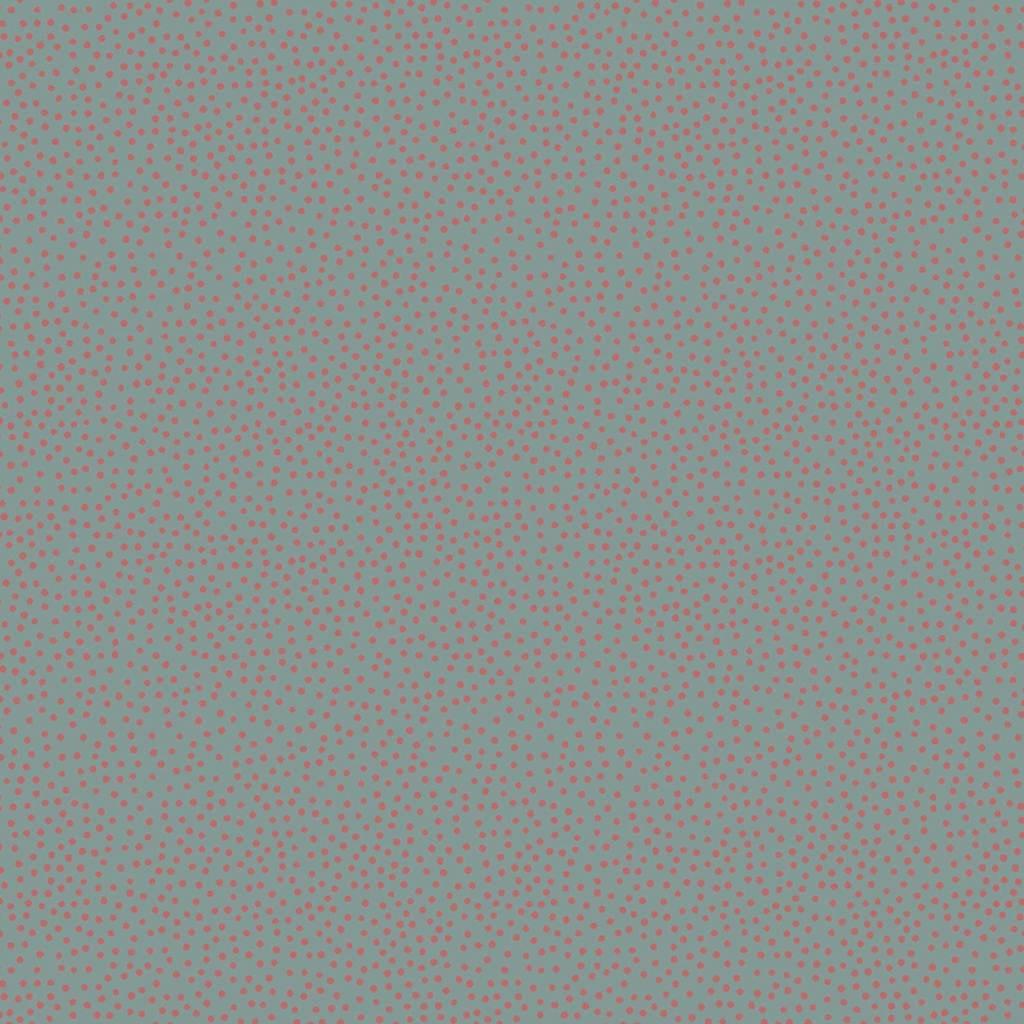 Heartstring Dots - Red Dot on Blue - DV3285 - 1/2 Metre Length