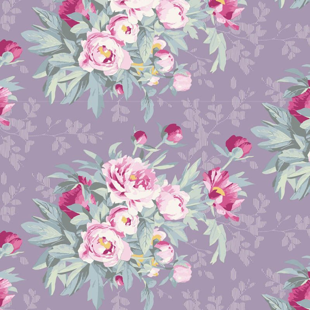 Hazel Lavender - Tilda Woodland collection - 1/2 metre length