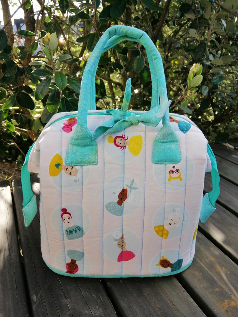 """Mini Poppins Bag 9""""x7""""x7"""" - Ladies pattern"""