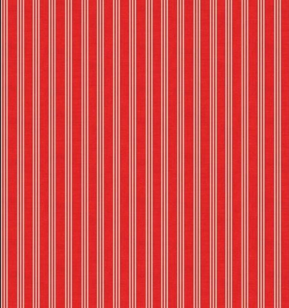 Scandi  Christmas 1780 Triple stripe Red - per half metre length