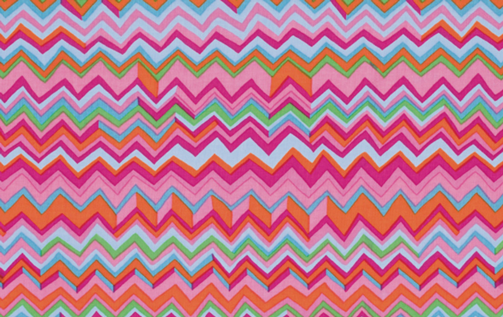 Zig Zag Pink   1/2 Metre Length