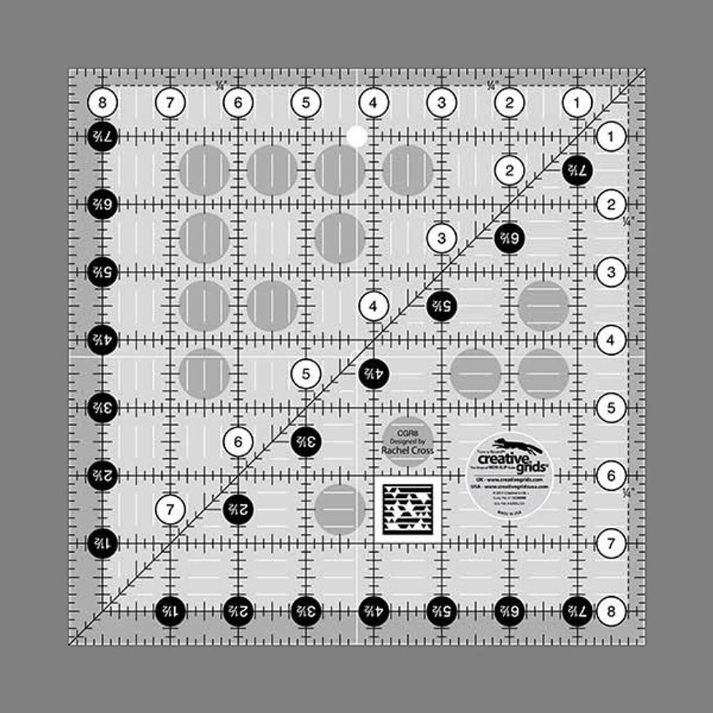 "Creative Grids   8 1/2"" Square  it Up & Fussy Cut Ruler"