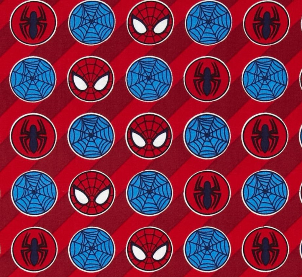 Spiderman Red Stripe 1/2 Metre Length