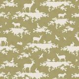 Tilda Autumn Tree Fabric - Forest Green 1/2 Metre Length