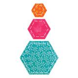 """55011 - AccuQuilt Die -  Hexagon 2"""", 3"""", 5"""""""