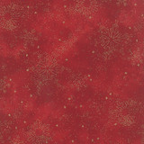 Snowflake Metallic - 33004 - Crimson 1/2 Metre Length