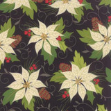 Poinsettia - 10050 - Midnight 1/2 Metre Length