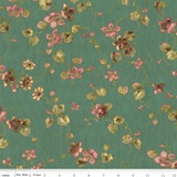 Isabella Teal Medium Floral 1/2 Metre Length