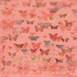 Devotion - Butterflies Coral 1/2 Metre Length