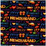 Kiwi Kapers Colour 1 Multi  1/2 Metre Length