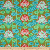Lotus Stripe - Green 1/2 Meter Length