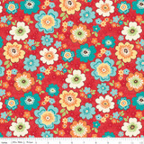 ROAD BLOSSOMS RED 1/2 Metre Length