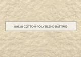 Warm co Batting 80/20 - 80% Cotton 20% Polyester mix - per 1/2mtr length