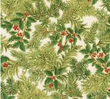 Green Holly Sprig -Holiday Flourish  per 1/2 metre length