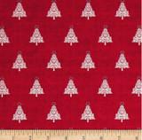 Scandi Christmas red tree   per half metre length