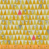 Wonder 50521 col 4 Yellow triangles  by Carrie Bloomston  - per half metre length