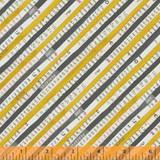 Wonder 50519-5 col yellow stripe by Carrie Bloomston  - per half metre length