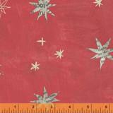 Wonder 50517-6 col  red stars by Carrie Bloomston  - per half metre length