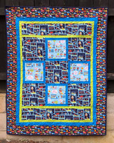 "Cops and Robbers Quilt  Finished size 43 1/2"" x 55 1/2"""