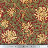 Moda May Morris Honeysuckle Crimson 7347 - Per half metre length
