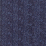 Moda May Morris Stripe Twill Indigo- Per half metre length