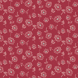 Laundry Basket Super Bloom Dandelion Red  by Edyta Sitar - per half meter length