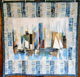 """Harbour View  Kitset- finished size 55"""" x 66 1/2"""" binding available in blue or light"""