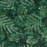 NZ KIWI & FERN BALI - EMERALD 1/2 Metre Length