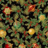Holiday Florish Christmas Metalic  - per half meter length