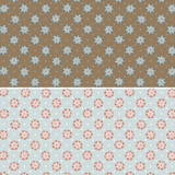 Heartstrings Floral Brown & Light Blue - DV3277 - 1/2 Metre Length