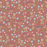 Heartstrings Garden Red  - DV3272 - 1/2 Metre Length