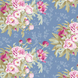 Hazel Blue - Tilda Woodland collection - 1/2 metre length