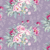 Hazel Lavender - Tilda Woodland collection - 1/2 metre length