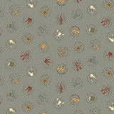 12th Day Circles Blue - On the 12th day Collection - 1/2 metre length