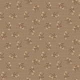 Starflower Sprigs Cocoa - On the 12th day Collection - 1/2 metre length