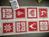 Scandi Placemats for 8 - Red
