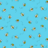 Bumble Bee Blue - 94070 - 1/2 metre length