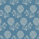 Cream flower bunch on light blue | Blue Sky Collection | Laundry Basket Quilts by Edytar Sitar | 1/2 metre length