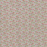 Rosebuds Blossom Silver | Porcelain by 3 sisters | (silver) 1/2 metre
