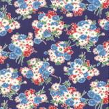 Bouquet Navy | Good Times by American Jane | per 1/2 metre