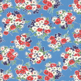 Bouquet Blue | Good Times by American Jane | per 1/2 metre