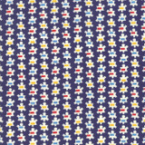 Popcorn Prezzy Navy  Good Times by American Jane   per 1/2 metre
