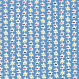 Popcorn Prezzy Blue   Good Times by American Jane   per 1/2 metre