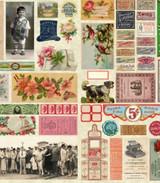 Parchment Ephemera Flat Lay Panel | Flea Market mix by Cathe Holden