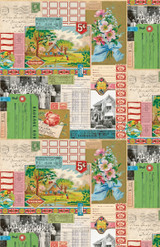 Ephemera Collage   Flea Market mix by Cathe Holden   per 1/2 metre