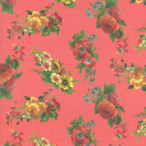 Rhubarb Floral   Flea Market mix by Cathe Holden   per 1/2 metre