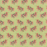 Nesting Birds Pistachio   Flea Market mix by Cathe Holden   per 1/2 metre