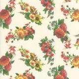 Floral Parchment   Flea Market mix by Cathe Holden   per 1/2 metre